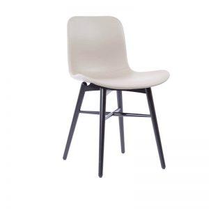 NORR11 - LANGUE Original eetkamerstoel met Premium leer - Zwart_Lava