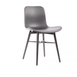 NORR11 - LANGUE Original eetkamerstoel met Premium leer - Zwart_zwart