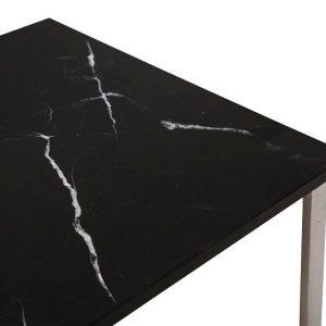 NORR11 - MAN Side Table - RVS bijzettafel met zwart marmeren blad
