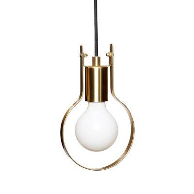 Geborsteld messing hanglamp of tafellamp (890703)