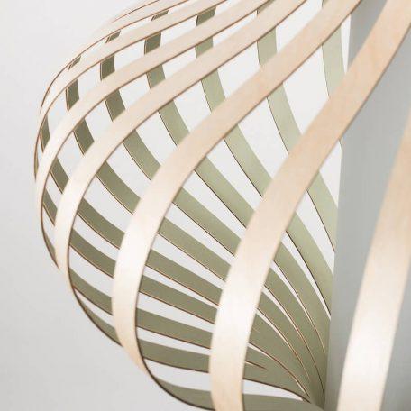 LION Design - FOSA Hanglamp Berkenhout Groen 50x50