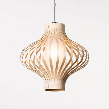 LION Design - FOSA Hanglamp Berkenhout Naturel 50x50