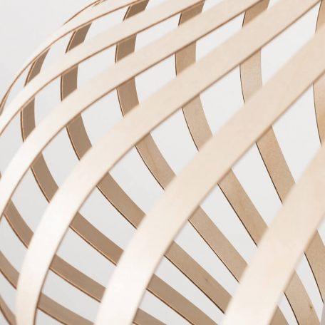 LION Design - FOSA Hanglamp Berkenhout Naturel 50x50