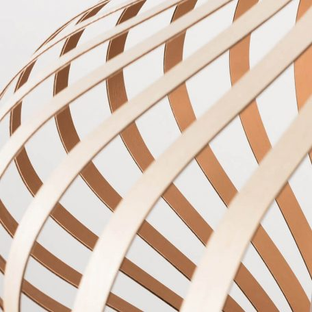 LION Design - FOSA Hanglamp Berkenhout Roze 50x50