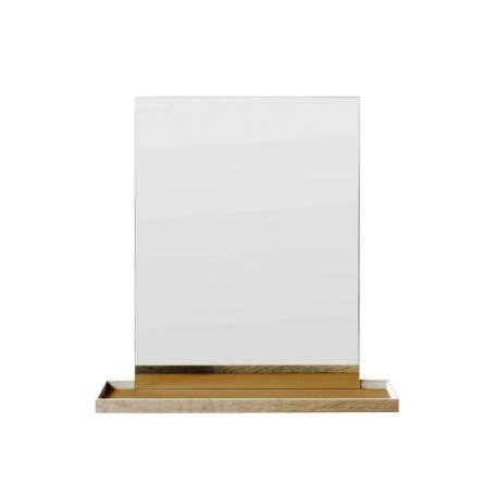 MUNK Collective - FRAME Mirror - FRAME spiegel met plateau Large - Okergeel