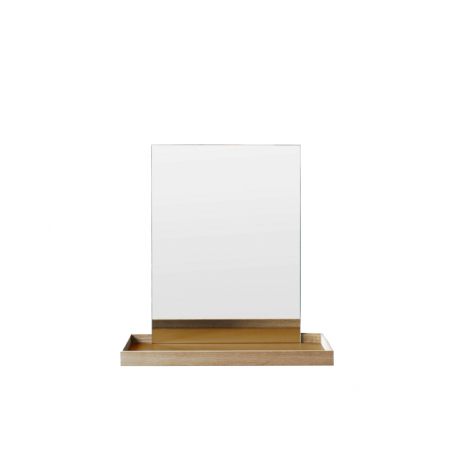 MUNK Collective - FRAME Mirror - FRAME spiegel met plateau - Small - Okergeel