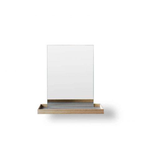 MUNK Collective - FRAME Mirror - FRAME spiegel met plateau - Small - grijs
