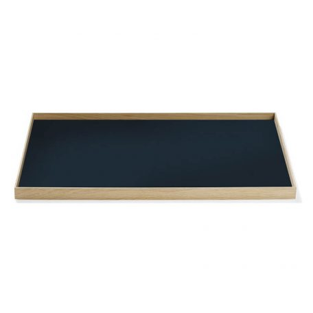 MUNK Collective - FRAME Tray Large - Eiken dienblad met donkerblauw blad