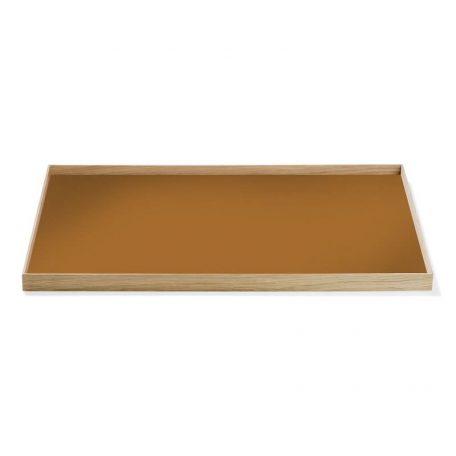 MUNK Collective - FRAME Tray Large - Eiken dienblad met okergeel blad