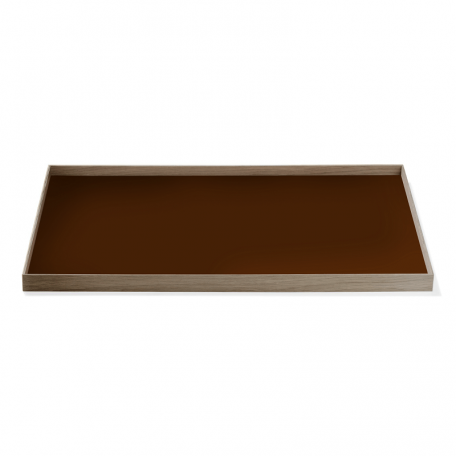 MUNK Collective - FRAME Tray Large - Walnoot dienblad met bruin blad