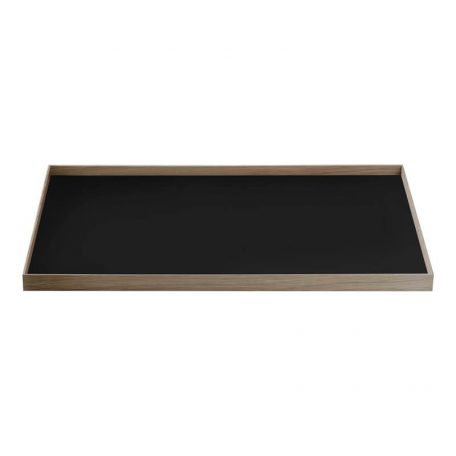 MUNK Collective - FRAME Tray Large - Walnoot dienblad met zwart blad
