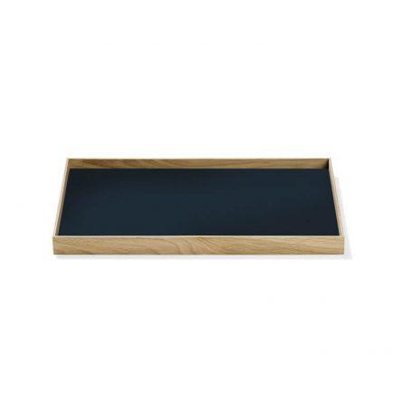 MUNK Collective - FRAME Tray Medium - Eiken dienblad donkerblauw blad