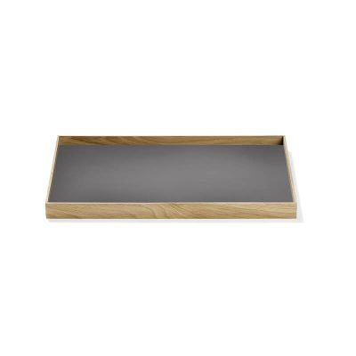 MUNK Collective - FRAME Tray Medium - Eiken dienblad grijs blad