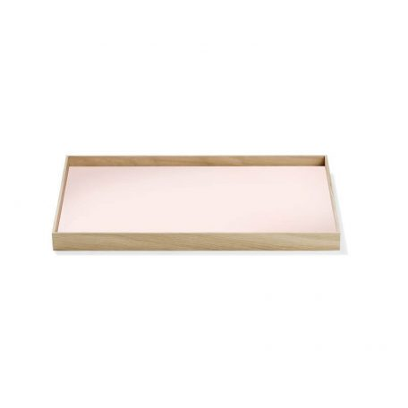 MUNK Collective - FRAME Tray Medium - Tray Eiken dienblad met roze blad