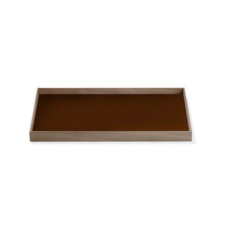 MUNK Collective - FRAME Tray Medium - Walnoot dienblad met bruin blad