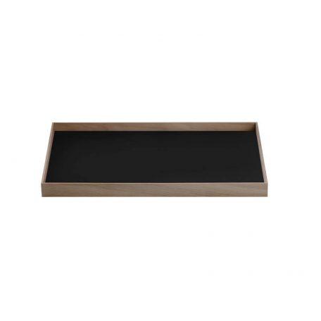 MUNK Collective - FRAME Tray Medium - Walnoot dienblad met zwart blad