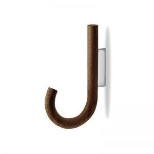 MUNK Collective - HOOK Hanger - Walnoot houten kapstokhaak - Naturel_Chroom