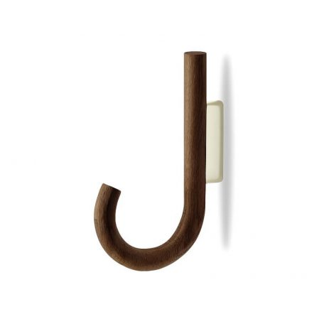 MUNK Collective - HOOK Hanger - Walnoot houten kapstokhaak - Naturel_Messing