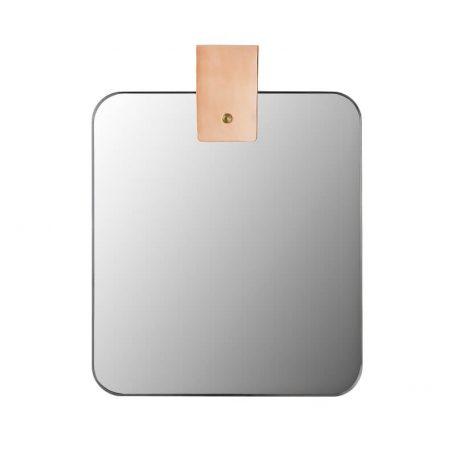 MUNK Collective - Ribbon mirror - Rechthoekige spiegel met ophanglus van leer_SMALL