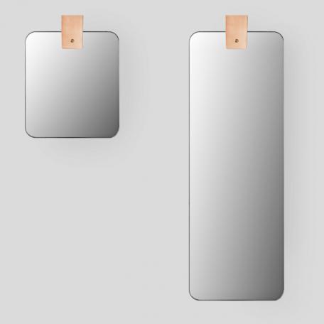 MUNK Collective - Ribbon mirror - Rechthoekige spiegel met ophanglus van leer_SMALL & LARGE