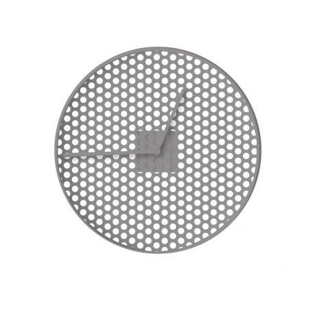 MUNK Collective - TIME Clock - TIME wandklok van aluminium – Soft Grey_SMALL