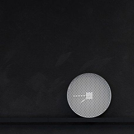 MUNK Collective - TIME Clock - TIME wandklok van aluminium – WIT_LARGE