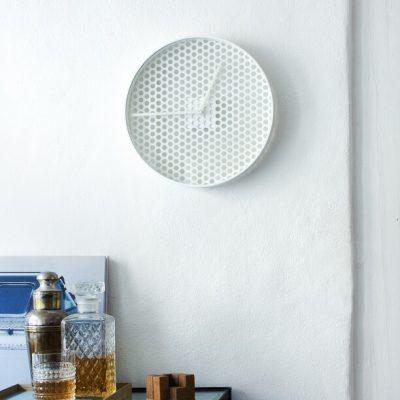 MUNK Collective - TIME Clock - TIME wandklok van aluminium – WIT_SMALL