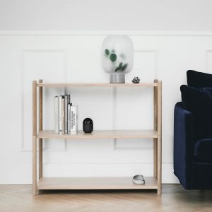 GEJST SCEENE A - Naturel eiken Wandkast Boekenrek TV-meubel