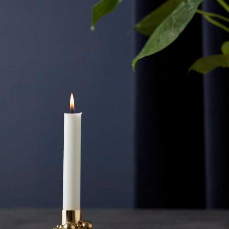 Gejst MOLEKYL - kandelaar, kaarsenstandaard van metaal - MESSING