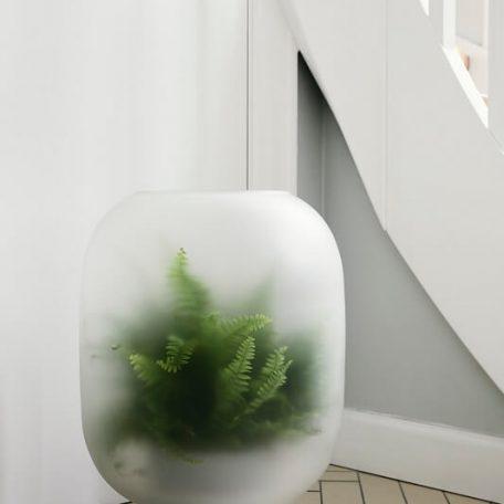 Gejst NEBL - Plantenbak van melkglas - GRIJS XLARGE (2)