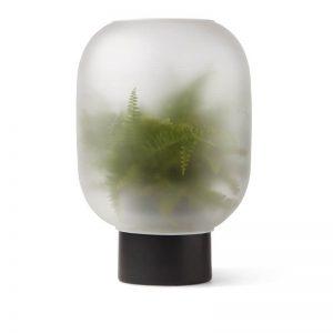 Gejst NEBL - Plantenbak van melkglas - ZWART XLARGE