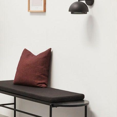 Hubsch Interior - Zwart metalen wandlamp (990709)