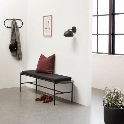 Hubsch Interior - Zwart metalen wandlamp - 990709