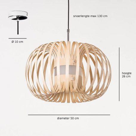 LION DESIGN - META Hanglamp - Afmetingen