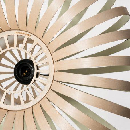 LION DESIGN - META Hanglamp berkenhout GROEN - 50x25