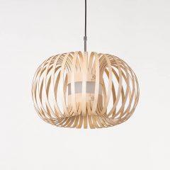 LION DESIGN - META Hanglamp berkenhout NATUREL - 50x25