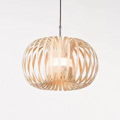 LION DESIGN - META Hanglamp berkenhout NATUREL - 50x25