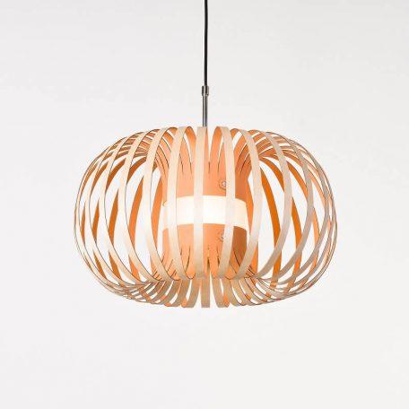 LION DESIGN - META Hanglamp berkenhout ROZE - 50x25