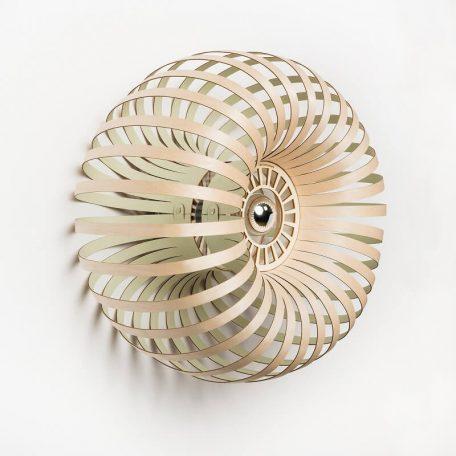 Lion Design - META WALL - Wandlamp Berkenhout - Groen 50x25cm