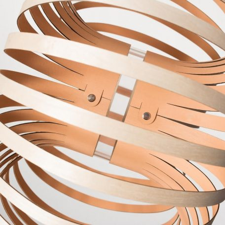 Lion Design - META WALL - Wandlamp Berkenhout - Roze 50x25cm