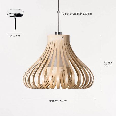 Lion Design - MORA Hanglamp Afmetingen