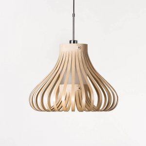 LION DESIGN - MORA Hanglamp Berkenhout - NATUREL 50x38cm