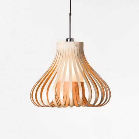 LION DESIGN - MORA Hanglamp Berkenhout - ROZE 50x38cm