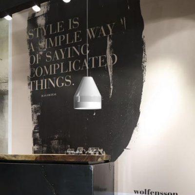 DYBERG LARSEN - CRAYON Hanglamp WIT-MATWIT 30x30cm (6202)