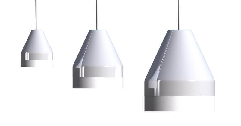 DYBERG LARSEN - CRAYON Hanglamp WIT-MATWIT - Serie