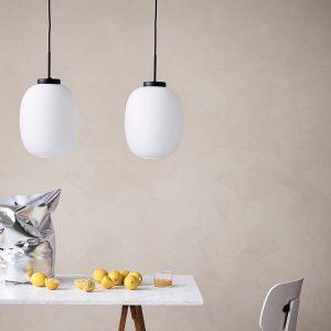 DYBERG LARSEN - DL39 Hanglamp van wit opaalglas, melkglas (8083)