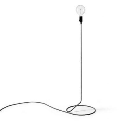 Design House Stockholm - CORD vloerlamp zwart-wit - 38x38x130cm (1)