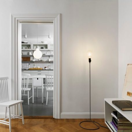 Design House Stockholm - CORD vloerlamp zwart-wit - 38x38x130cm (4)