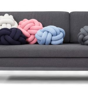 Design House Stockholm - DAY DREAM sofa 3-zitsbank - Donkergrijs met KNOT kussens