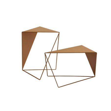 MUNK Collective - INVERSE TABLE - metalen bijzettafel, salontafel - OKERGEEL